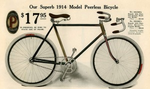 1914PearlessAd 44 300x178 - Bicycle History